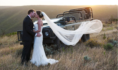 A newly wed couple in Pilanesberg