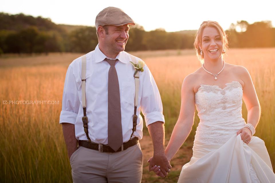 Couples enjoy a sunset wedding at Pilanesberg