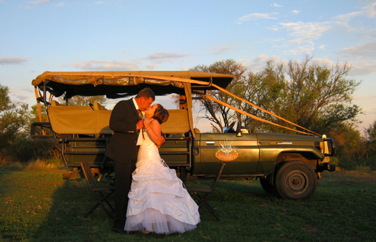 A safari and a wedding!