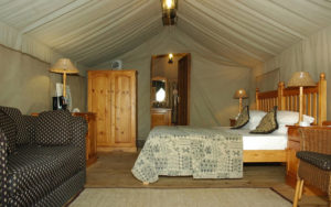 The Bakgatla resort's executive suite - glam camping at its finest